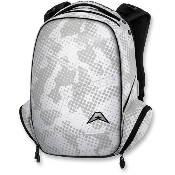 American Kargo White Commuter Backpack - 3517-0335