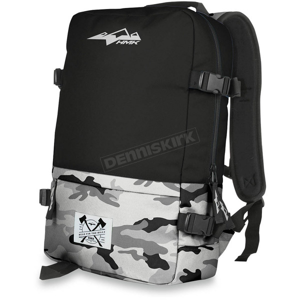 HMK Black/Camo Clutch Backpack - HM4CLUBC