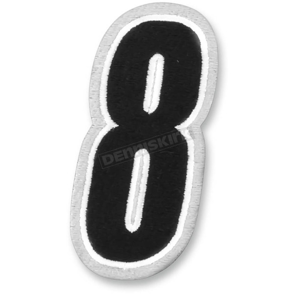 American Kargo White/Black 5 in. Number 8 Patch - 3550-0199