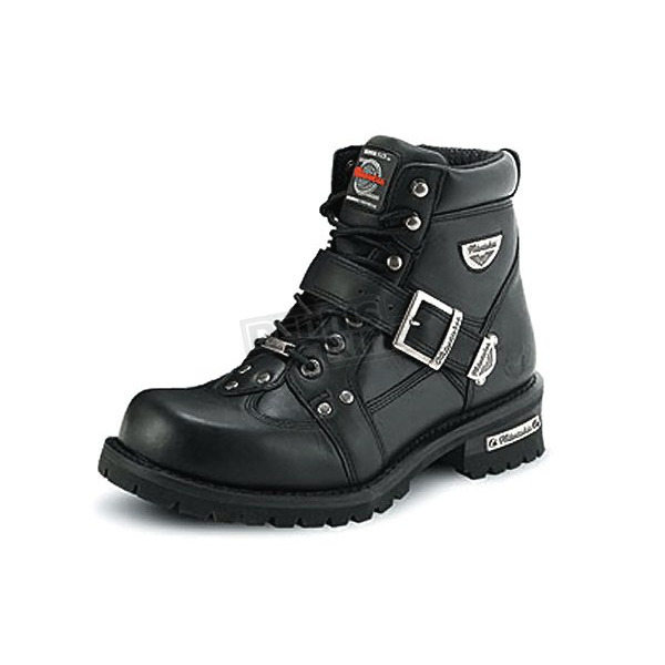 Milwaukee Motorcycle Clothing Co. Mens Road Captain Leather Boots - EE Width - MB43340