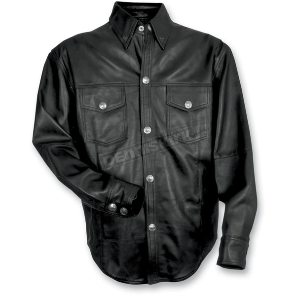 Mossi Leather Shirt - 20-1038-2XL