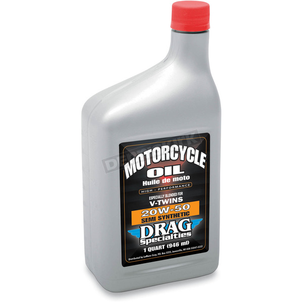 Drag Specialties 20W50 Semi- Synthetic Motor Oil  - 36010263