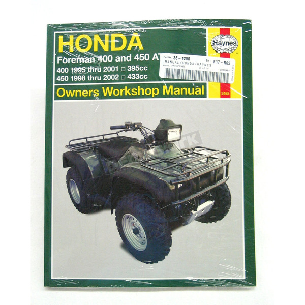 Haynes Honda Repair Manual - 2465