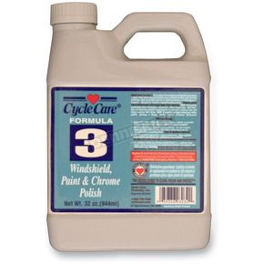 Cycle Care Formulas Formula 3 Windshield, Paint and Chrome Polish - 03032