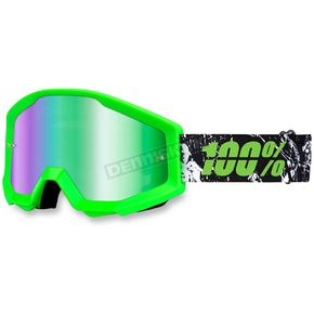 100% Crafty Lime Strata Goggle w/Green Mirror Lens - 50410-078-02