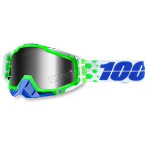 100% Alchemy Green Racecraft Goggle w/Silver Lens - 50110-151-02
