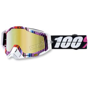 100% Glitch Purple Racecraft Goggle w/Gold Lens - 50110-152-02