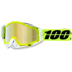100% Solar Yellow Racecraft Goggle w/Gold Lens - 50110-157-02