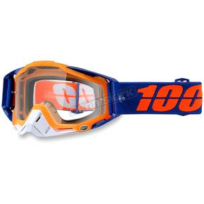 100% Derestricted Orange Racecraft Goggle w/Clear Lens - 50100-150-02