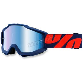 100% Raleigh Navy Accuri Goggle w/Blue Lens - 50210-158-02