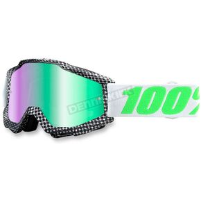 100% Newsworthy Gray Accuri Goggle w/Green Lens - 50210-163-02