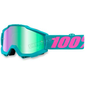 100% Passion Torquoise Accuri Goggle w/Blue Lens - 50210-165-02