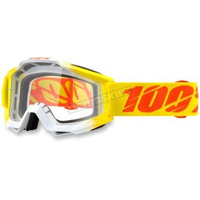 100% Zest Yellow Accuri Goggle w/Clear Lens - 50200-160-02