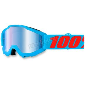 100% Youth Acidulous Cyan Accuri Goggle w/Mirror Blue Lens - 50310-161-02