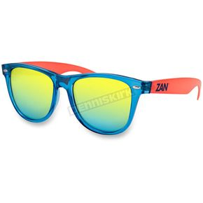 Bobster Blue/Orange Minty Sunglasses w/Smoked Yellow Mirror Lens - EZMT05