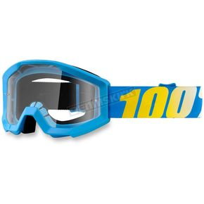 100% Youth Blue Strata Goggle w/Clear Lens - 50500-012-02