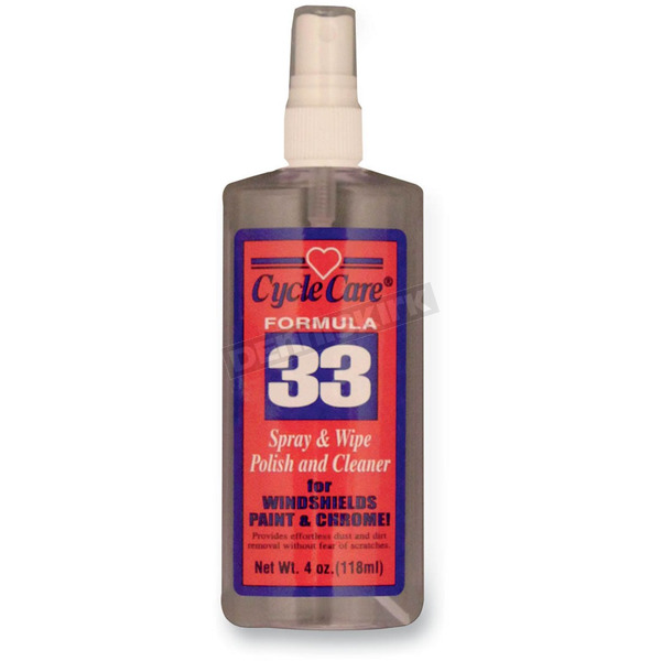 Cycle Care Formulas Formula 33 Spray and Wipe®, Dry Detailer and Bug Remover - 33004