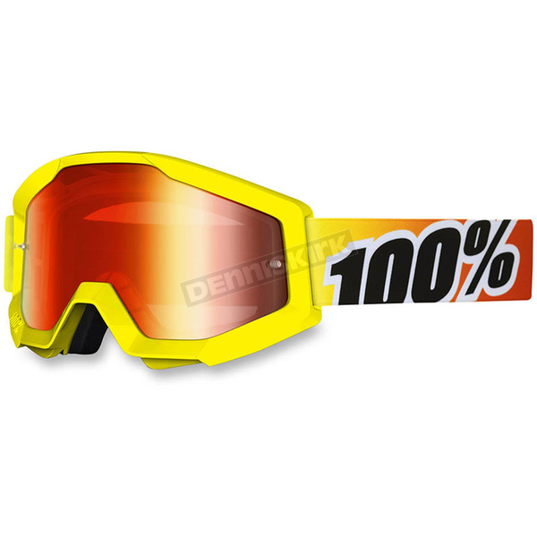 100% Sunny Days Strata Goggle w/Red Mirror Lens - 50410-029-02