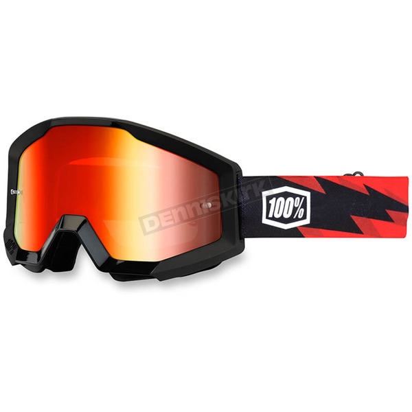 100% Slash Strata Goggle w/Red Mirror Lens - 50410-076-02