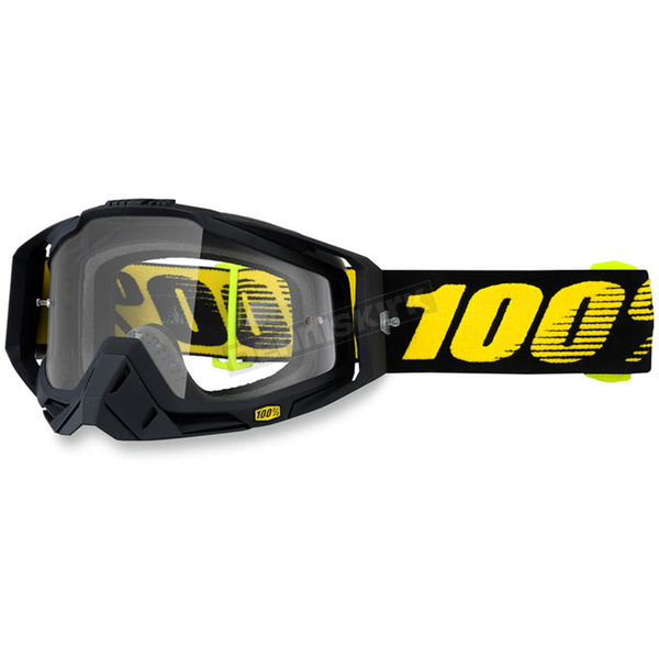 100% Raceday Black Racecraft Goggle w/Clear Lens - 50100-153-02