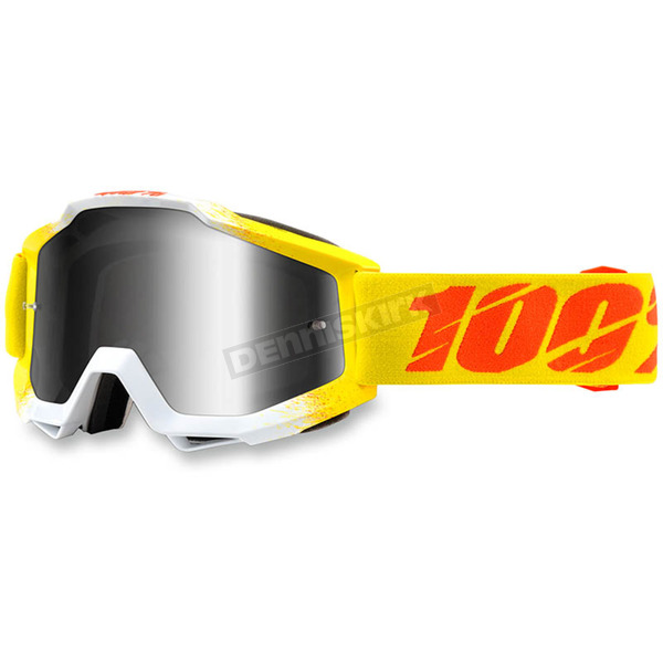 100% Zest Yellow Accuri Goggle w/Silver Lens - 50210-159-02