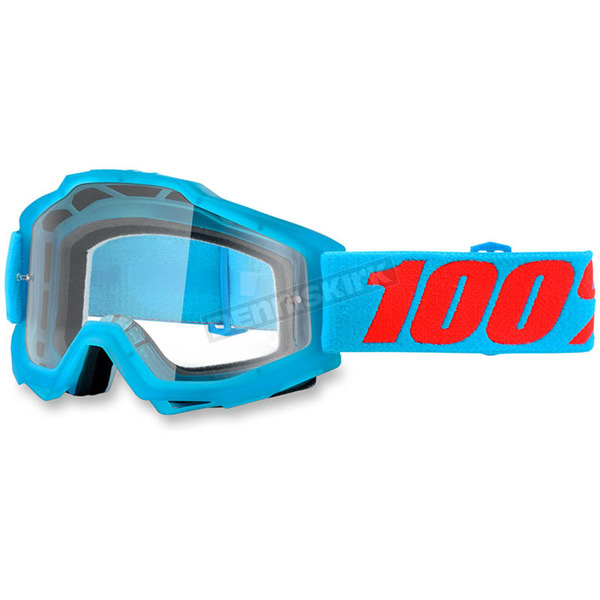 100% Acidulous Cyan Accuri Goggle w/Clear Lens - 50200-161-02