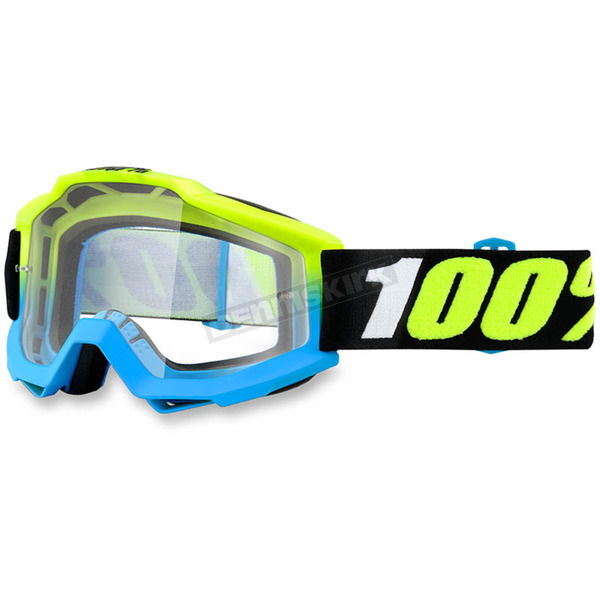 100% Pegagus Yellow Accuri Goggle w/Clear Lens - 50200-164-02