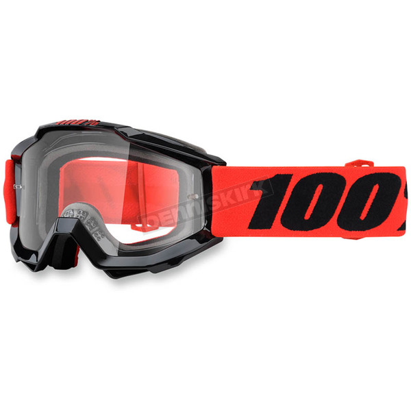100% Youth Inferno Red  Accuri Goggle w/Clear Lens - 50300-162-02