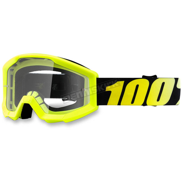 100% Youth Yellow Strata Goggle w/Clear Lens - 50500-004-02
