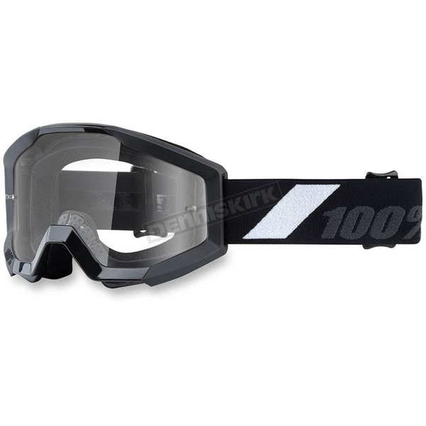 100% Youth Black Strata Goggle w/Clear Lens - 50500-166-02