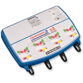 Optimate 3 Quad Bank Complete 12V Battery Charger - TM-455