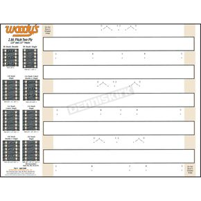 Woodys Studding Template for 2.86 Pitch Two-Ply Tracks - 286T-TEMP