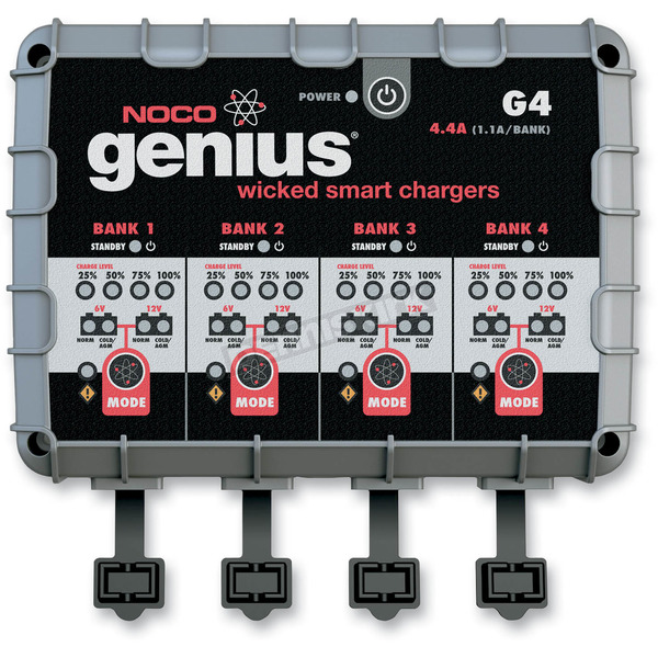 NOCO Generation 4 2.2-40Ah 12V-48V 4-Bank Genius Battery Charger - G4