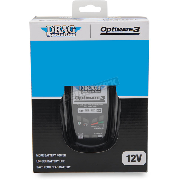 Drag Specialties Optimate 3 Global Battery Charger - 3807-0254