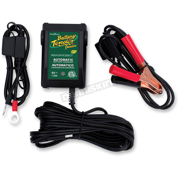 Battery Tender Junior 6V, 1.25A High-Efficiency Charger - 022-0196