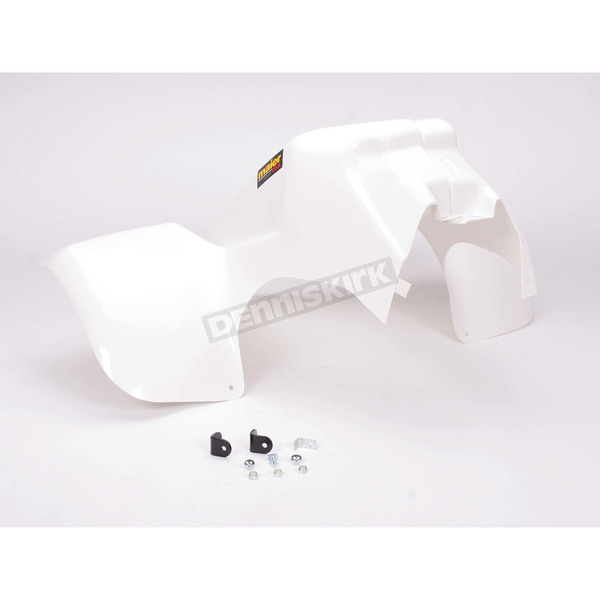 Maier White Standard ATV Two Pience Front Fender - 177791