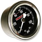 Oil Pressure Gauge w/Black Face - 9043