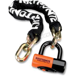 Kryptonite 3.25 ft. New York Chain and Evolution Series 4 Disc Lock - 720018-999515