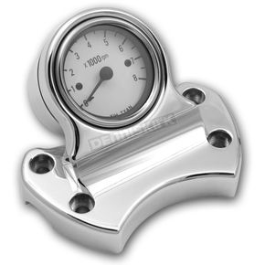 Pro-One Updated Handlebar Clamp Tachometer Kit - White Face Tach - 803370