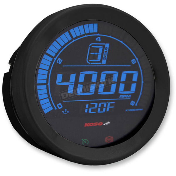 Koso North America Black 4 in. Tachometer  - BA051110