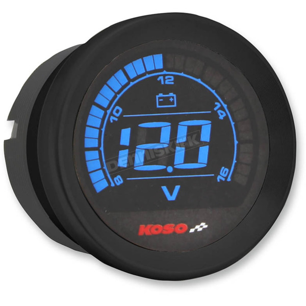 Koso North America Black 2 in. Volt Gauge  - BA050310