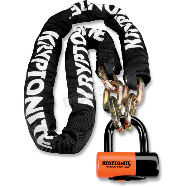 Kryptonite 5.5 ft. New York Chain and Evolution Series 4 Disc Lock - 720018-999522