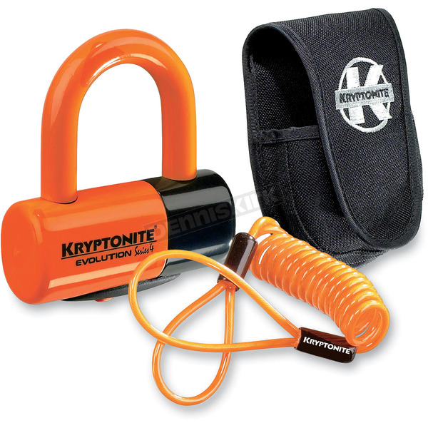 Kryptonite Orange Evolution Series 4 Disc Lock Premium Pack - 720018-999591