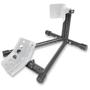 Motorsport Products Gloss Black/Silver Powder-Coat GP3 Wheel Chock Stand - 97-3002