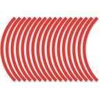 Sport Bike Red Wheel Trim Decal Kit - 60600