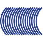Sport Bike Blue Wheel Trim Decal Kit - 60601