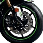 Sport Bike Green Wheel Trim Decal Kit - 60605