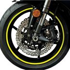 Sport Bike Fluorescent Yellow Wheel Trim Decal Kit - 60606