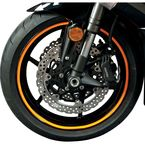 Sport Bike Fluorescent Orange Wheel Trim Decal Kit - 60607