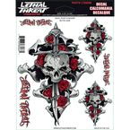 Skull Rose Decal Set - LT88066